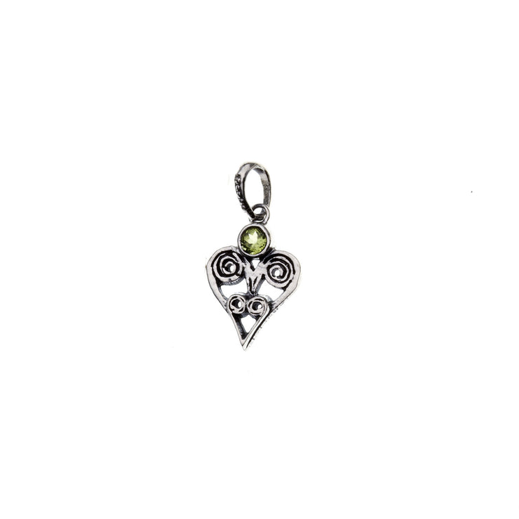 Barnes Metalwork Birthstone Sterling Silver Heart Charm - Cynthia Gale New York - 11