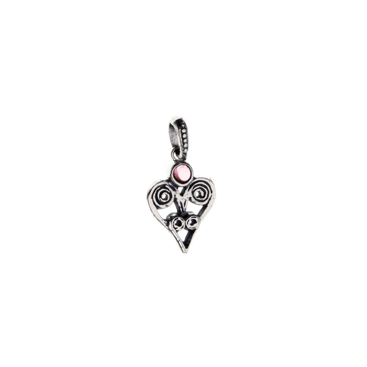 Barnes Metalwork Birthstone Sterling Silver Heart Charm - Cynthia Gale New York - 13