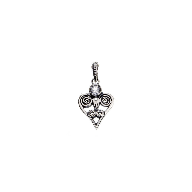 Barnes Metalwork Birthstone Sterling Silver Heart Charm - Cynthia Gale New York - 7