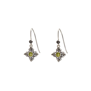 Dharmachakra Sterling Silver Peridot Grace Earring - Cynthia Gale New York Jewelry