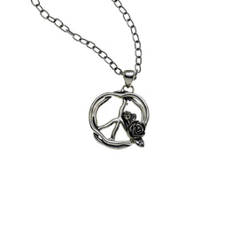 Imagine Peace Sterling Silver Necklace - Cynthia Gale New York Jewelry