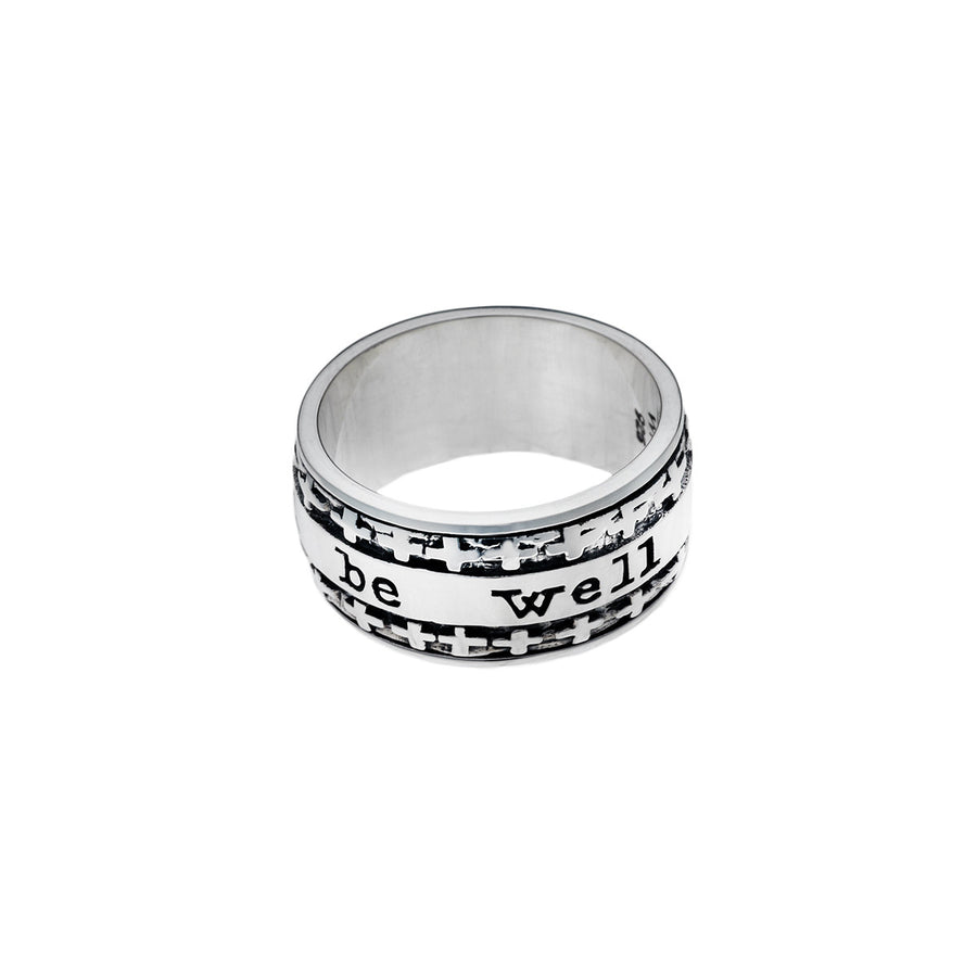 And All Shall Be Well Sterling Silver Spin Ring - Cynthia Gale New York Jewelry