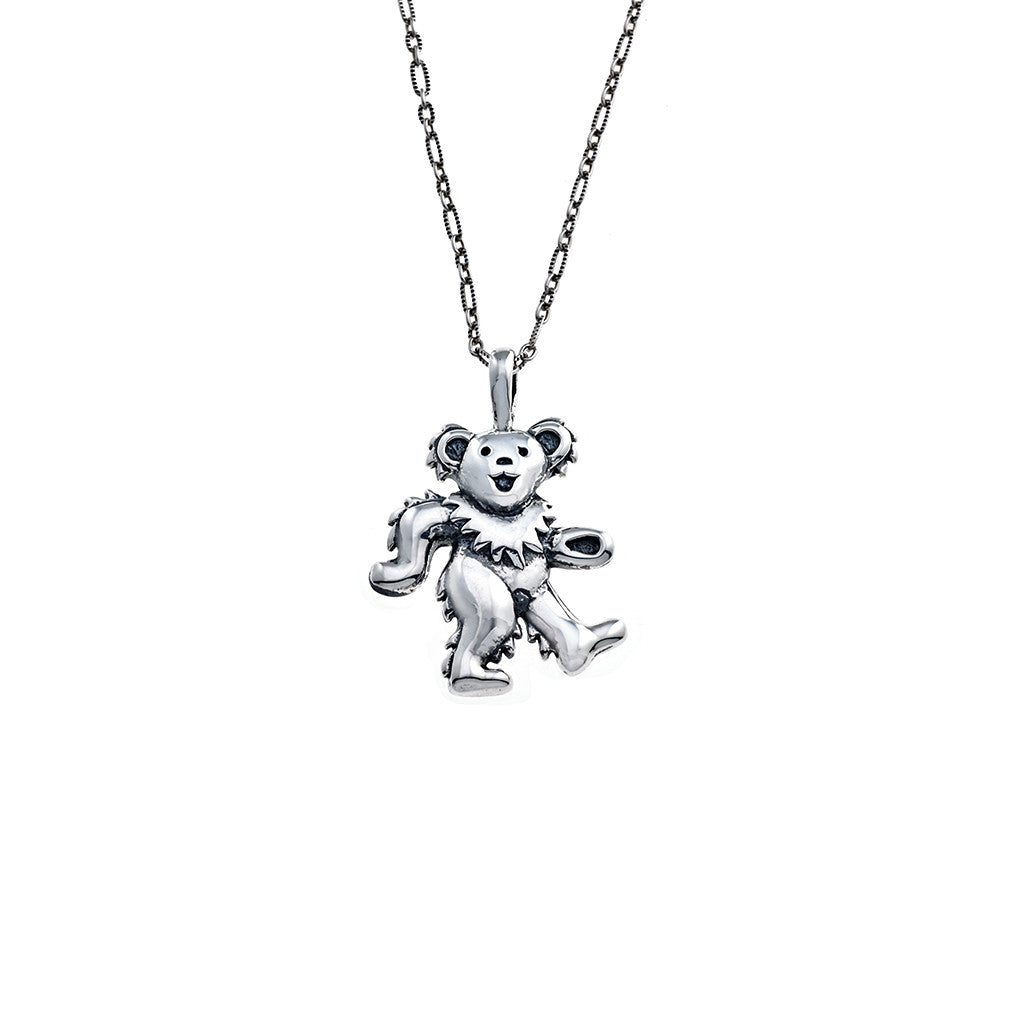 Dancing Bear Sterling Silver Charm Necklace - Cynthia Gale New York 5d6fc9ee8