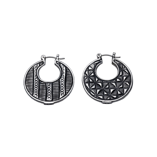 Wiener Werkstatte Reversible Hoop Earring - Cynthia Gale New York Jewelry