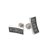 Wiener Werkstatte Line Out Cufflinks - Cynthia Gale New York Jewelry