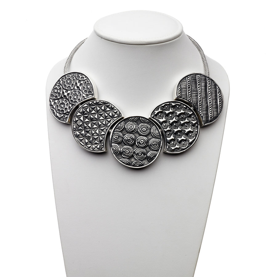 Wiener Werkstatte Statement Necklace - Cynthia Gale New York Jewelry