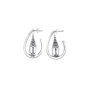 Chrysler Building Sterling Silver Earrings - Cynthia Gale New York - 1