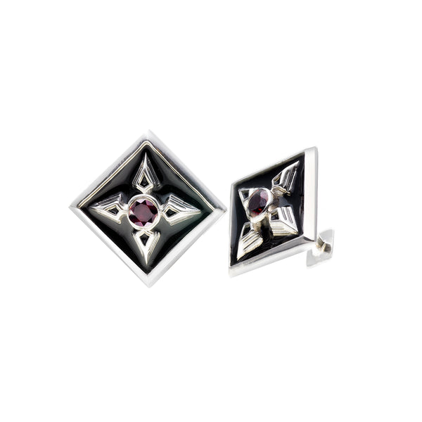 Rebel Punk Sterling Silver Cufflink