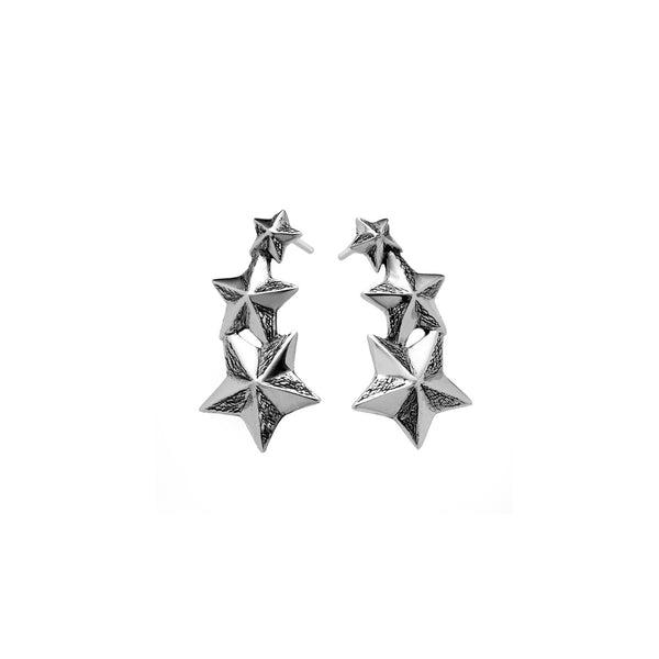 Rock Star Sterling Silver Drop Earring - Cynthia Gale New York - 1