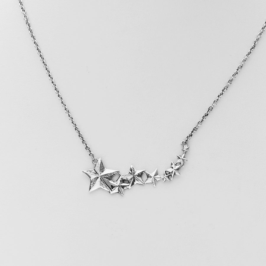 Rock Star Sterling Silver Necklace - Cynthia Gale New York - 1