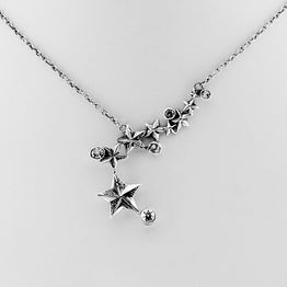 Rock Star Sterling Silver & White Topaz Necklace - Cynthia Gale New York - 1