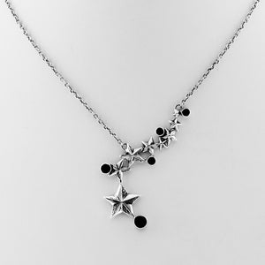 Rock Star Sterling Silver & Onyx Necklace - Cynthia Gale New York - 2