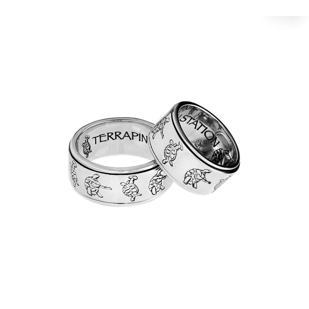 Grateful Dead Terrapin Station Sterling Silver Spinner Ring