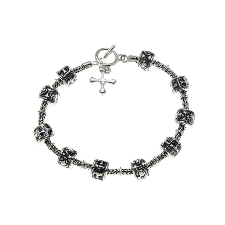 Washington National Cathedral Sterling Silver Prayer Bracelet