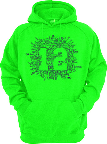 12TH COLLAGE HOODIE GREEN
