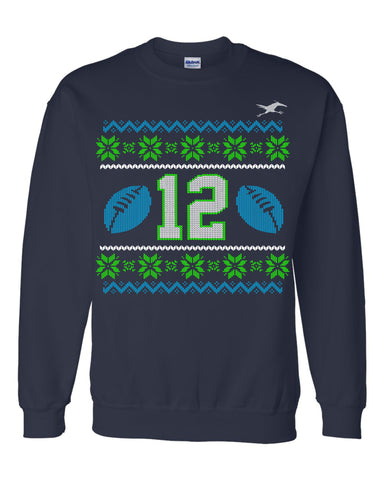 12TH MAN FAUX KNIT SWEATSHIRT (Y)