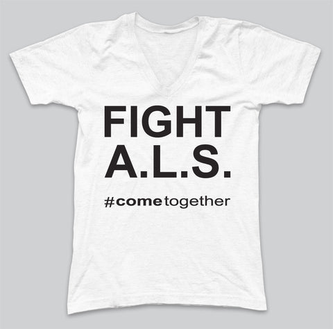 FIGHT A.L.S. V-NECK (W)
