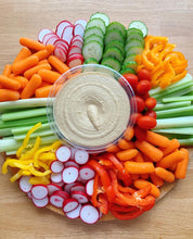 Load image into Gallery viewer, vegetable platter, veggie platter, hummus platter, keto platter, kosher platter