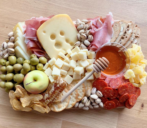 gift platter, cheese platter, sharp cheddar, edible gift, cheese board, autumn food