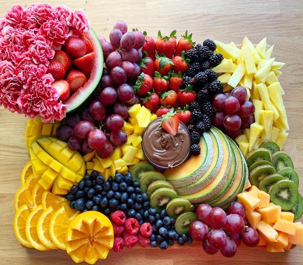 Rainbow Platter | Fruit Arrangements | Fruit Platters | Overwood – Overwood  Artisan Platters®