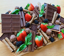 Load image into Gallery viewer, chocolate platter, dessert platter, chocolate board, sweet platter, chocolate, overwood