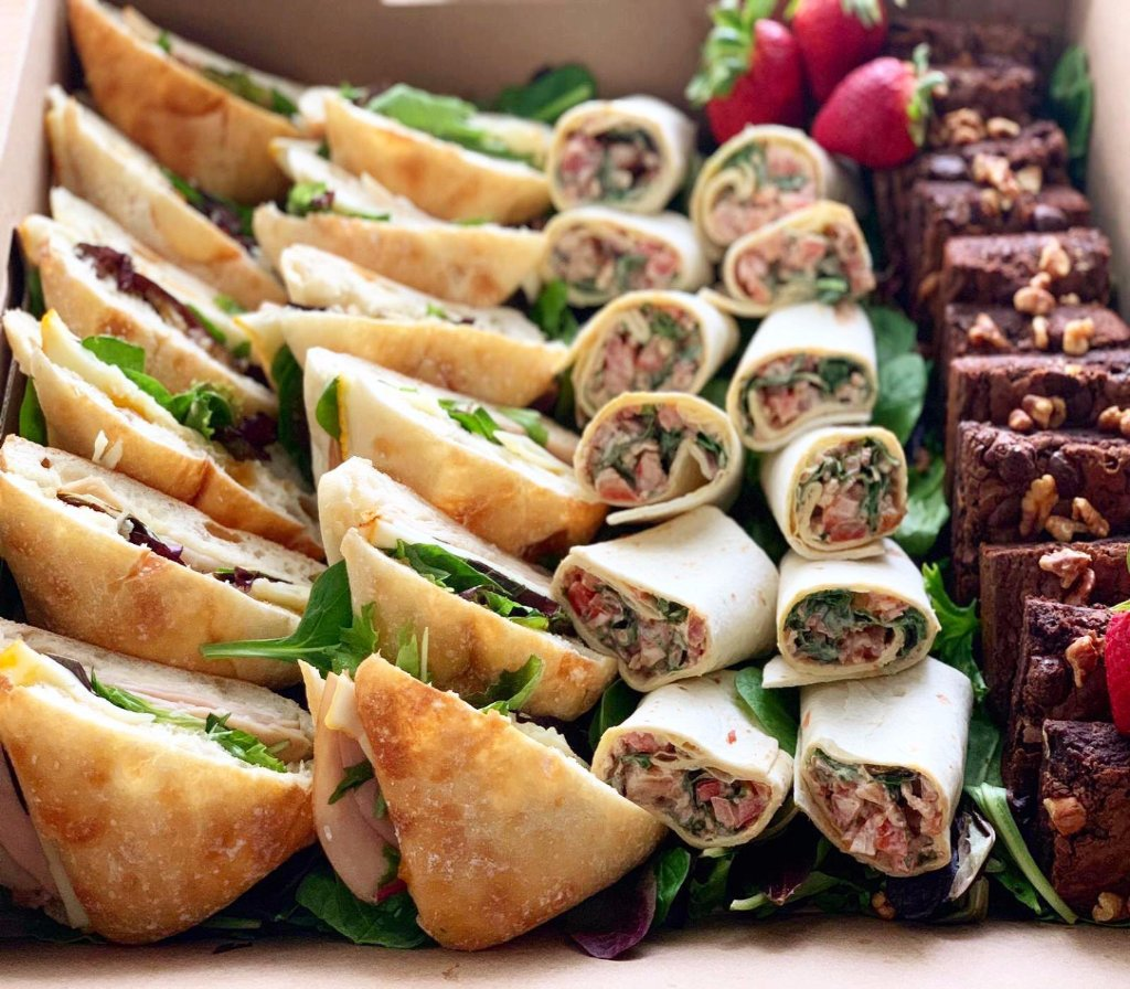 corporate catering, cheese platters, overwood, corporate lunch