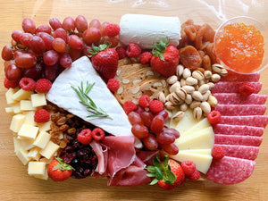 cheese platter, cheese board, charcuterie board, gift platter, edible gifts