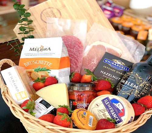 OVERWOOD, gift baskets, gourmet baskets, charcuterie baskets, corporate gifts, corporate baskets