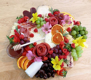 mother's day platter, mother's day gift, mother's day edible gift, midnight moon cheese