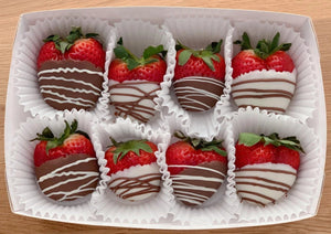 chocolate dipped strawberries, hand dipped, chocolate box, valentine's day gift, romantic gift