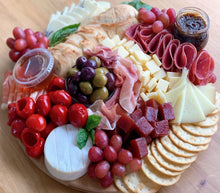 Load image into Gallery viewer, cheese platter, cheese board, truffle cheese, manchego cheese, fig spread