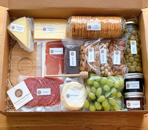 DIY cheese box, charcuterie board, DIY gift, prosciutto, salami