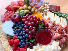 Load image into Gallery viewer, cheese platter, cheese board, edible gift, gift platter, overwood