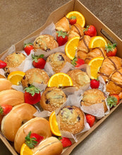 Load image into Gallery viewer, lunch box, breakfast box, bagels, muffins, overwood