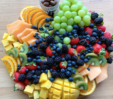 Load image into Gallery viewer, fruit platters, mango, miami, berries, cantaloupe, oranges, fresh