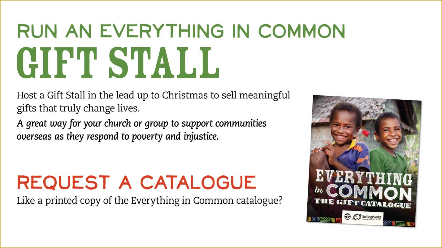 Run a gift stall or request a catalogue