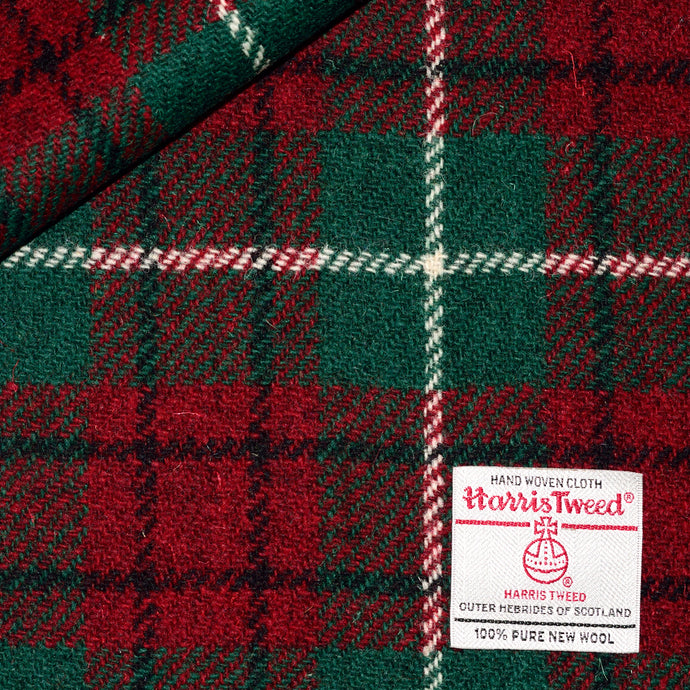 Red & Green Check Harris Tweed