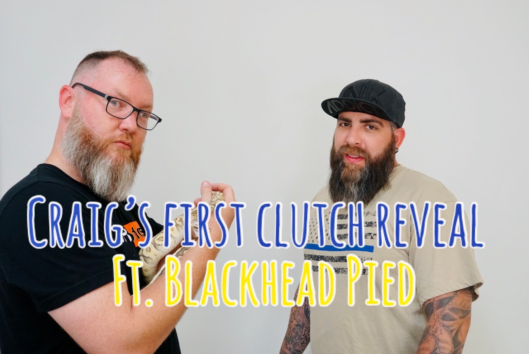 Craig's first clutch reveal - special guest Blackhead Pied