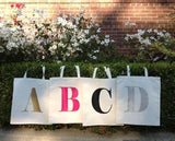 ABC Personalized Initial Canvas Tote Bag