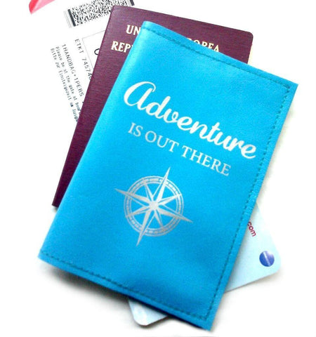Adventure Is Out There Leather Passport Cover