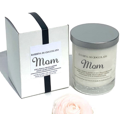 Personalized Mother's Day Scented Candle | Custom Mom Scented Candle - bambinadicioccolato