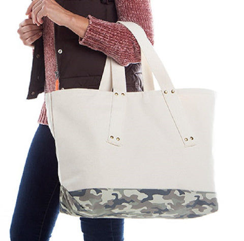 Grommet Canvas Tote
