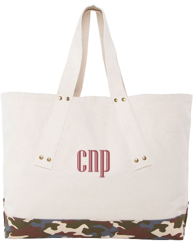 Personalized Grommet Canvas Tote