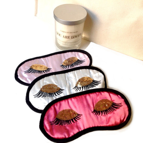 Satin Eye Mask With Ulta Long Eyelashes