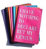 I Have Nothing To Declare But My Genius Leather Passport Cover - bambinadicioccolato