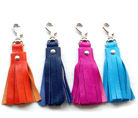 Kate Leather Tassel Key Chain