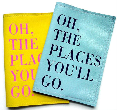 Oh The Places You'll Go Leather Passport Cover - bambinadicioccolato