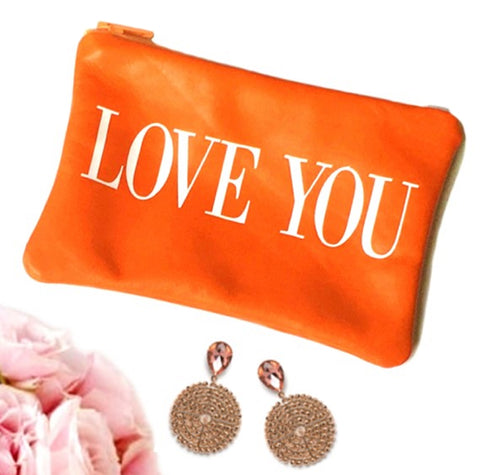 Personalized Love You Leather Coin Purse - bambinadicioccolato