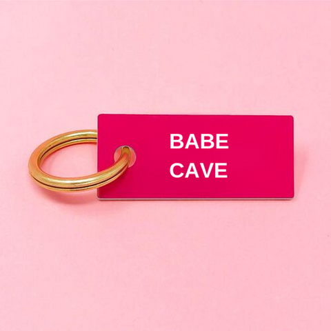 Babe Cave Acrylic Key Ring - bambinadicioccolato