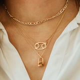 Personalized Gold Plated Zodiac Necklace - bambinadicioccolato